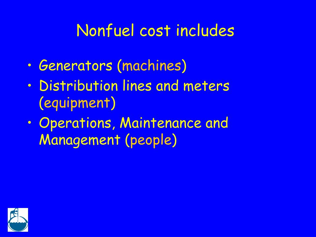 Nonfuel cost includes
