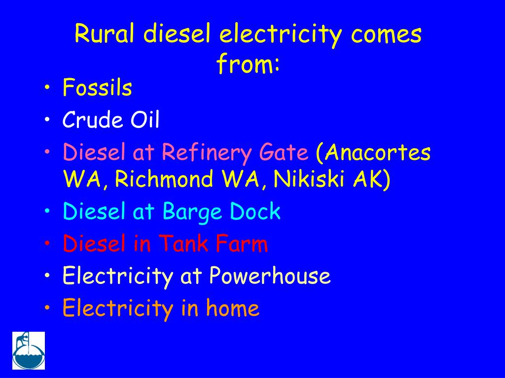 Rural diesel electricity comes from: