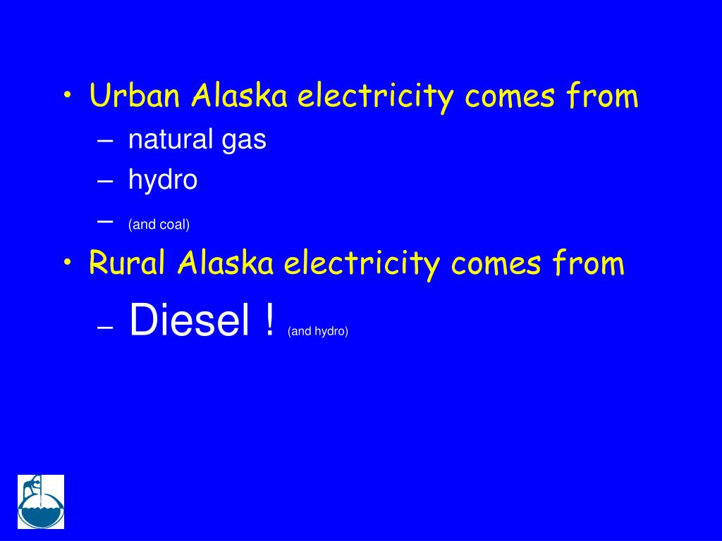 Urban Alaska electricity comes from