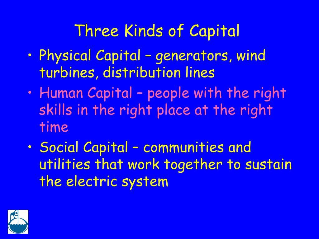 Three Kinds of Capital