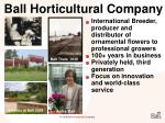 ball horticultural company