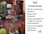 ball ornamentals