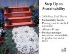 step up to sustainability