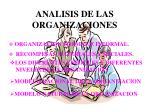 analisis de las organizaciones