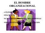el hombre organizacional