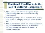 emotional roadblocks to the path of cultural competence4