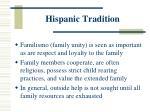 hispanic tradition