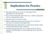 implications for practice73