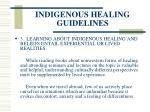 indigenous healing guidelines83