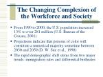 the changing complexion of the workforce and society