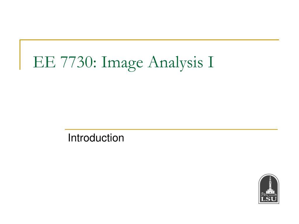 ee 7730 image analysis i