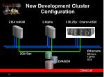 new development cluster configuration