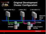 original development cluster configuration