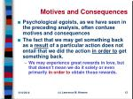 motives and consequences