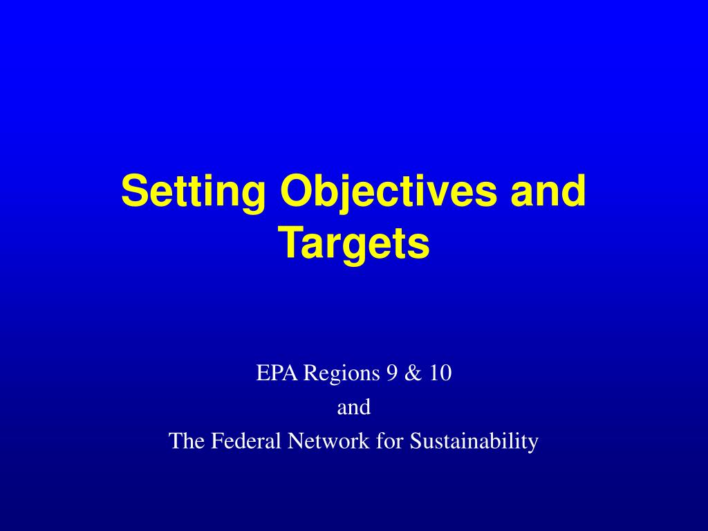 setting objectives and targets l.