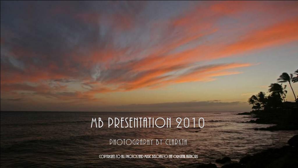 MB PRESENTATION 2010