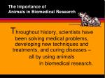 the importance of animals in biomedical research2