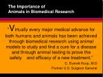 the importance of animals in biomedical research5