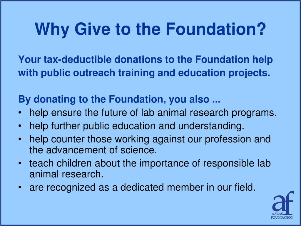 Why Give to the Foundation?