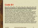 code b1