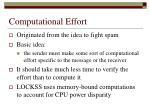 computational effort