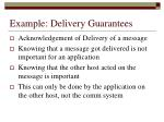 example delivery guarantees