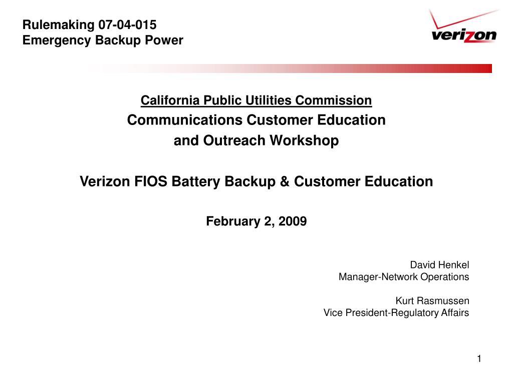 rulemaking 07 04 015 emergency backup power l.