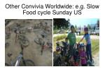 other convivia worldwide e g slow food cycle sunday us