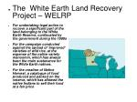 the white earth land recovery project welrp