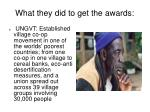 what they did to get the awards