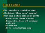 blood tubing