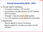 annual accounting 2010 2013