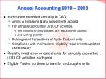annual accounting 2010 201323