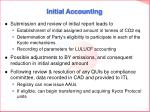 initial accounting