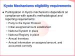 kyoto mechanisms eligibility requirements