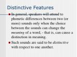 distinctive features15