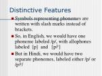 distinctive features23