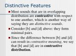distinctive features31