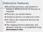 distinctive features42