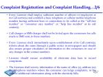 complaint registration and complaint handling 2 6
