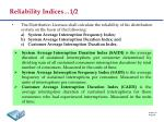 reliability indices 1 2