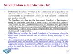 salient features introduction 1 2