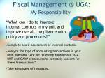 fiscal management @ uga68