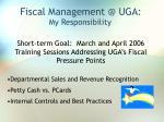 fiscal management @ uga70