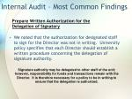 internal audit most common findings19