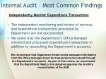 internal audit most common findings20