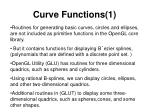 curve functions 1