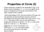 properties of circle 5