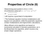 properties of circle 6