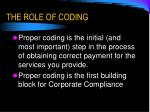 the role of coding4
